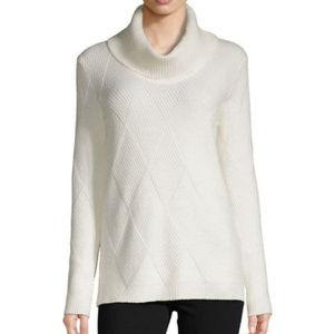 nwt Calvin Klein Cotton Turtleneck Knit Sw…